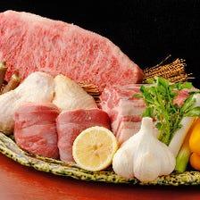 【2H飲み放題付】肉好きな方にオススメ!A5黒毛和牛炭火焼きなど肉中心コース<全11品>送別会、飲み会・会食