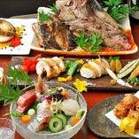 ご宴会をはじめ、接待や会食に。コースは飲放付5,000円(税込)~