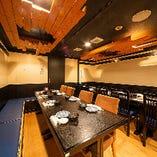 各種ご宴会に最適なテーブルイス席の個室