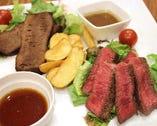 赤身肉ステーキ&塩タンとろり