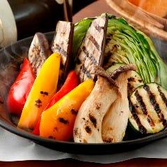 季節野菜のグリル バージンオイルとハーブソルト