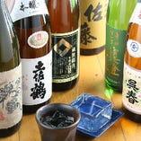 各地の日本酒、焼酎揃えています。焼酎はボトルキープもOK!