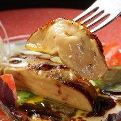 低温調理フォアグラソテー&燻製合鴨ソテー盛り合わせ