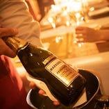 乾杯はスパークリングワインで