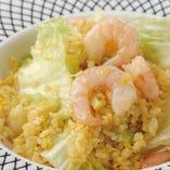 【おすすめ】ぷりぷり海老の葱塩炒飯
