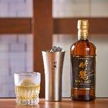 竹鶴をはじめ各種ウイスキーもございます