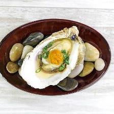 ウニと牡蠣醤油の焼き牡蠣