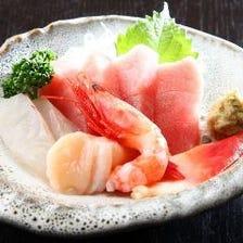 ◆熟練の目利きで仕入れる鮮魚!