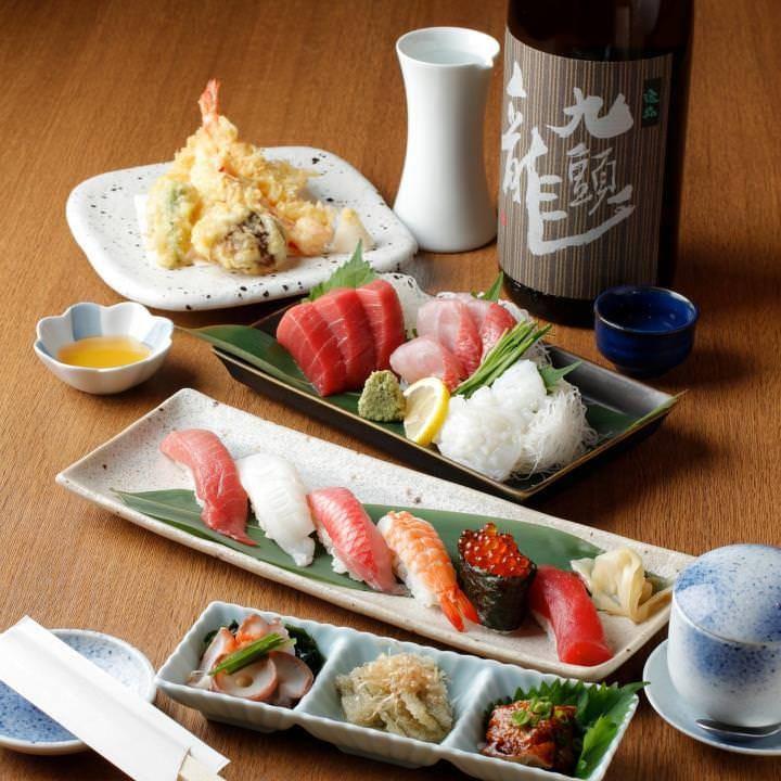 旬の味を堪能できる自慢の寿司コース