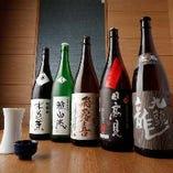 メニューにはない季節の日本酒があることも
