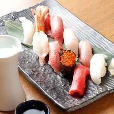 ◆魚屋直営店自慢の逸品と宴会を盛り上げる2時間飲み放題付『寿司コースプラン(飲み放題A)』[全6品]