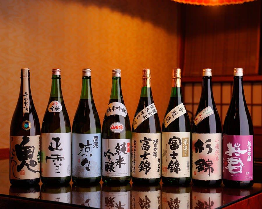 【日本酒】 銘酒や地酒豊富にご用意