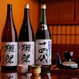 【こだわり地酒】 日本酒は銘酒から旬の酒を豊富にご用意
