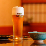 """《生ビール》                                              サントリー認定""""樽生達人""""いただきました                           おいしい樽生ビールをご提供いたしております"""