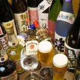 種類豊富なドリンクをご用意しています!日本酒も充実!