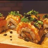 ベイクサーモン炙り巻き寿司 8貫