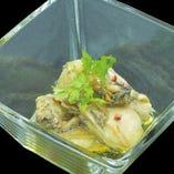 牡蠣の焦がし醤油オイル漬け