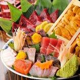 <新鮮!三陸魚介> 新鮮な鮮魚を漁師切りで。旬の味をどうぞ!