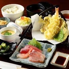 本日の刺身と天ぷら御膳