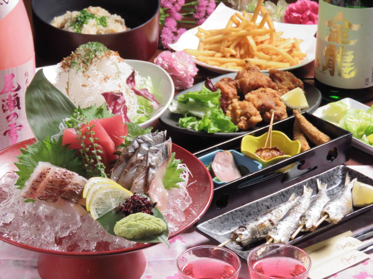《当日予約OK》◆得々4000円コース◆(季節のお料理9品)2h飲放付【個室有】