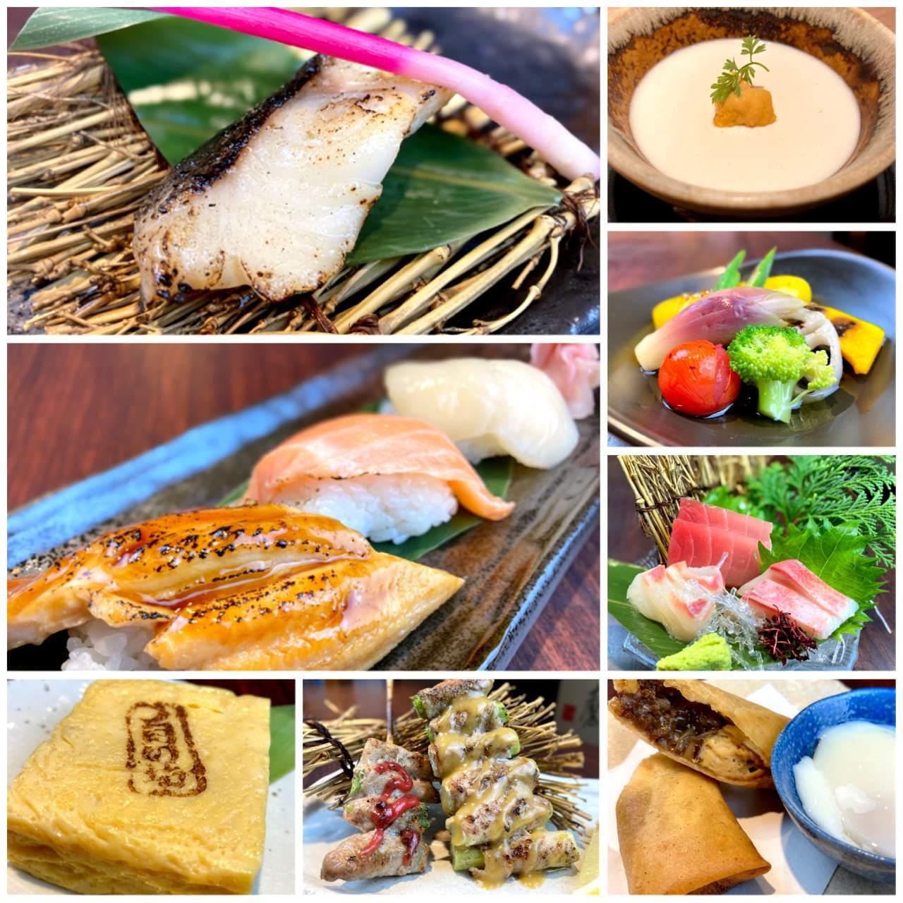 《全てのお料理を個別銘々盛りで食事を堪能》◆全8品の淡月コース◆3,900円(税込)