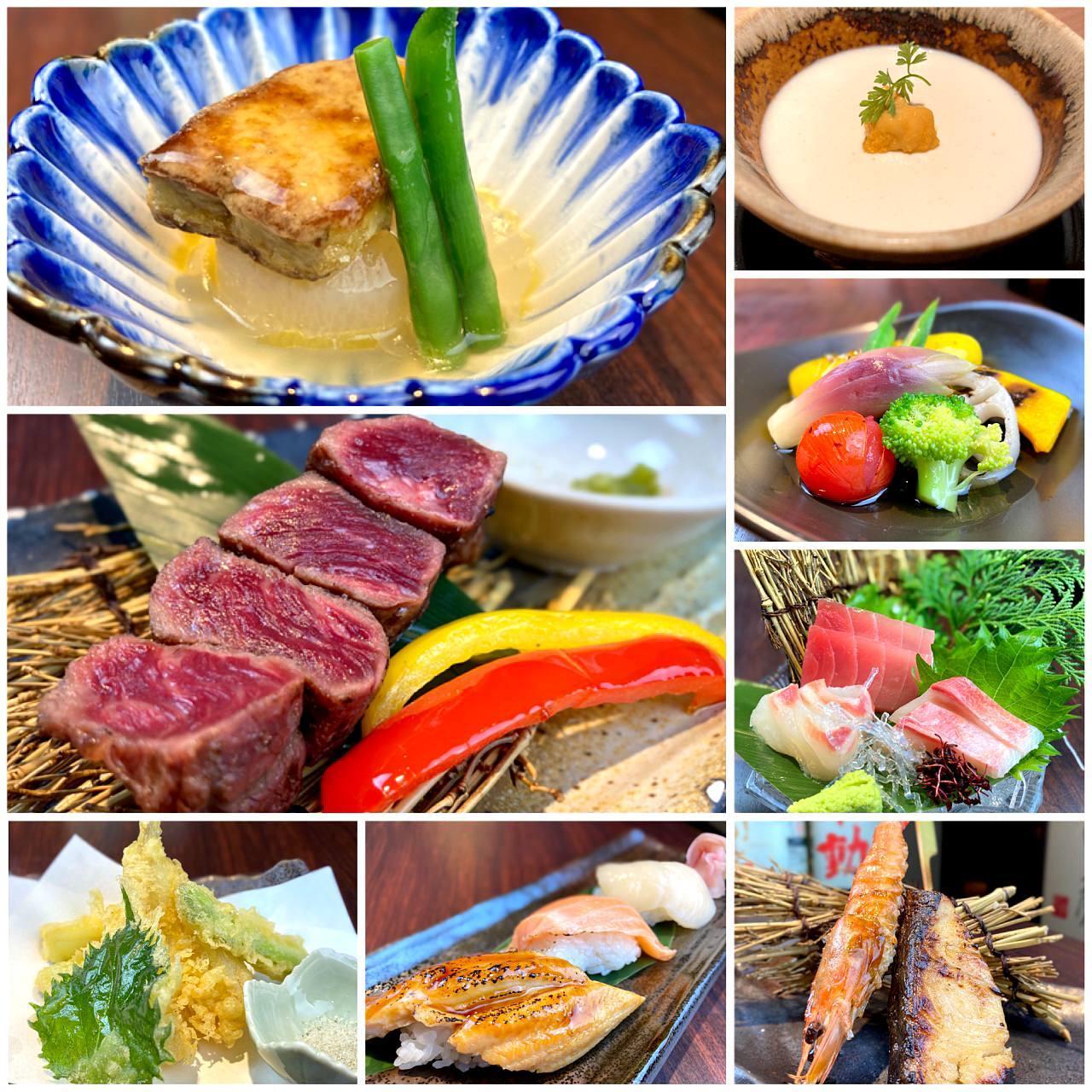 《ちょっと贅沢に♪全ての料理をお1人様ずつご提供》◆全8品の冬月コース◆4,900円(税込)