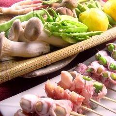 豚巻き串焼き各種