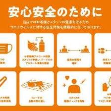 安心安全のために感染予防対策