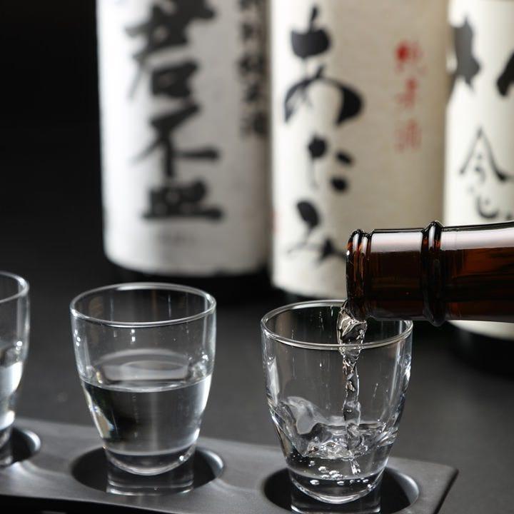 静岡の地酒を満喫できるラインナップ