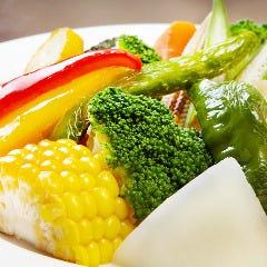 季節の温野菜アンチョビソース添え