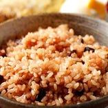ランチは白米or玄米選べます