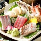 瀬戸内漁から直送の新鮮な魚の「お刺身盛り合わせ」