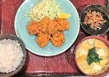 ランチ「唐揚げ定食」