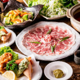 濃厚な豚肉の旨味を味わえる「豚しゃぶ」が楽しめるコースもございます