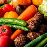 自社農園などから仕入れる新鮮野菜はそれぞれの特徴を活かした逸品に昇華