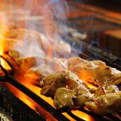 宮崎地鶏の串焼盛り合わせ