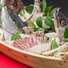 能登直送鮮魚の豪華船盛り