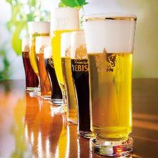 自慢の生ビールは全部で8種類