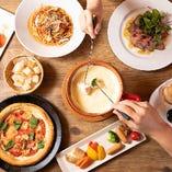 《選べる宴会コース》 チーズやお肉メインのコース等全5種!