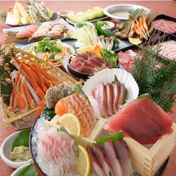 【極(きわみ)の宴】刺身、ズワイガニなどに、選べる料理も付いた贅沢な極みの豪華コース