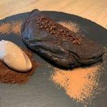 真っ黒チーズケーキオムレツ