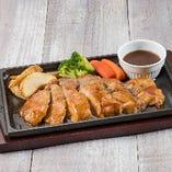 豚ロース肉のステーキ