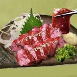 【飲み放題付】新鮮馬刺し、馬肉炙りしゃぶしゃぶ等お魚も楽しめる6000円コース