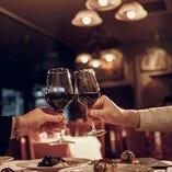 イタリアワインは、バイ・ザ・グラスのご用意も!