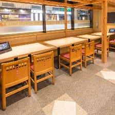 テーブル席/間仕切り・端末注文