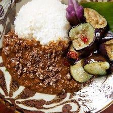 県産ナスと挽き肉カレー