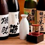 【お酒】 季節酒など全国各地の日本酒に世界のビールも自慢