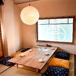 座敷席半個室(~9名様×4部屋)