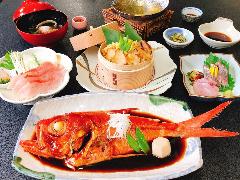 うんめぇもん祭り『金目鯛と大漁煮貝の網元お祭り膳』