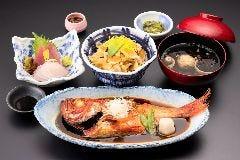 金目鯛の煮つけ祭『さざえと姿煮の龍宮お祭り膳』